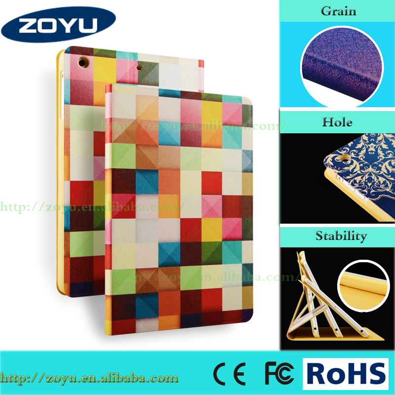 Pattern Printing Smart Ultra Slim Silk texture Flip Stand Cover For ipad mini 1 2 3 Case