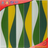 HT08 Interior & exterior wall tile designs premium crystal green subway/metro glass mosaic tile