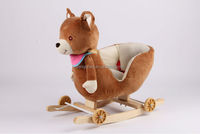 outdoor hedstrom plush spring rocking horse on wheels