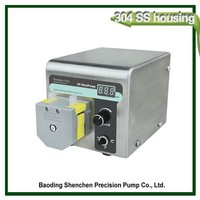 Portable peristaltic pump for spraying machine