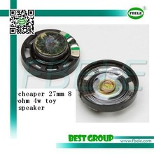 cheaper 27mm 8 ohm 4w toy speaker FBF27-1L