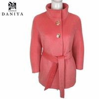 2015 New Autumn and Winter Thick Winter Wool Coat Women Fashion Long-Sleeved Female Overcoat Single-breasted Woolen Coat