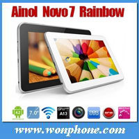 Cheapest Ainol Rainbow tablet PC 7 inch Capacitive 512MB 4GB Front 0.3MP Camera