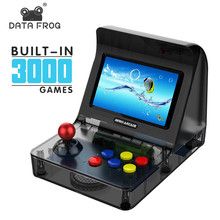 Data Frog Retro Mini ARCADE Game Console 4.3 Inch Built In 3000 Games Handheld Game Console Family Kid Gift Toy