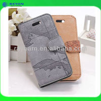 "2013 new products map leather case wth stand, Flip phone cover for iphone 5"" original cases"