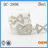 Factory directly sell rhinestone trimming metal chain trim, trimmings and laces