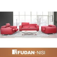 elegant alibaba furniture price and design red leather sofa recliner whole sale
