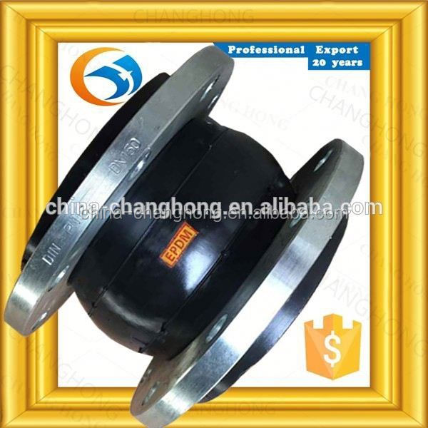 OEM ODM Custom With Galvanized Flange ansi pn16 rubber expansion joint for sanitary
