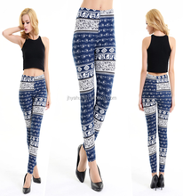 Calf Elephant Pattern Milk Silk Sexy Tight Fitness Legging