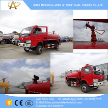 Small AWD DONGFENG 6000L water fire fighting 4x4 fire truck