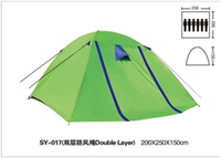 OEM Wholesale 6 Person 2 Layer Outdoor Polyester Large Camping Tent