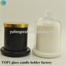 yufeng glass candle cloche jar mercury glass bottle