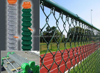 Sports ground chain link fence/Hot Dipped Galvanized Farm Fencing Chain Link Fence/cheap galvanized wire mesh from YAQI