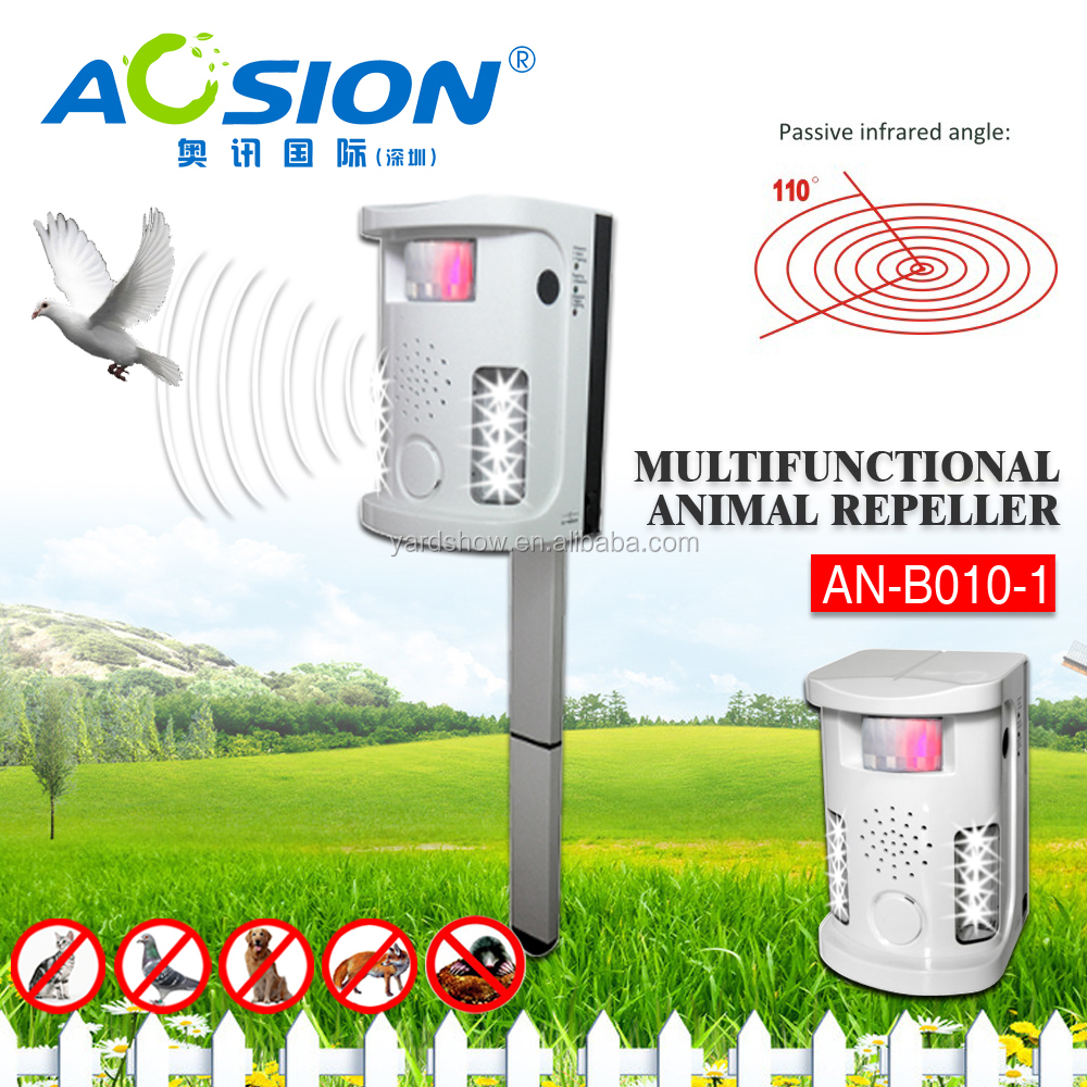 Aosion Plastic Bird Spikes Outdoor/Indoor Animal Predator Control Light Repeller Yard Sentinel AN-B010