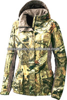 Women winter professional waterproof hunting camouflage jacket