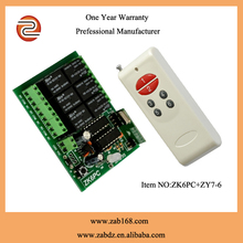 315/433 MHZ 6 channel wireless remote control relay switch/ transmitter and receiver controller