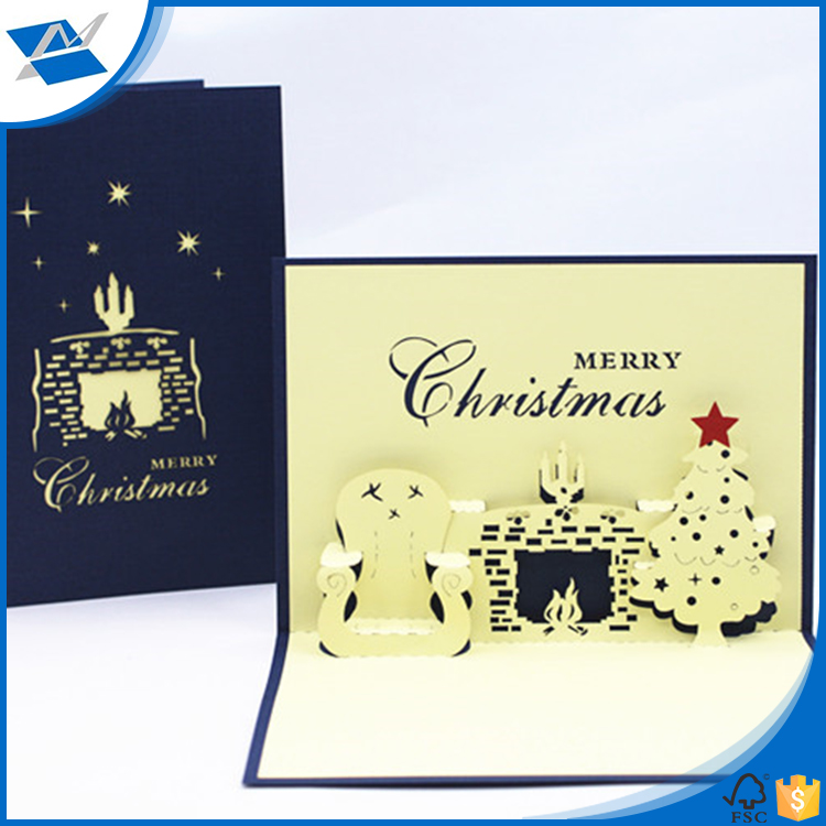 Unique Custom Designs Paper Handmade Chirstmas Greeting Cards
