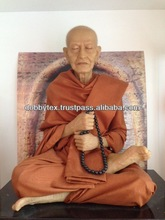 Waxwork Fiberglass Thai popular/Clergy Monk figure/Statue