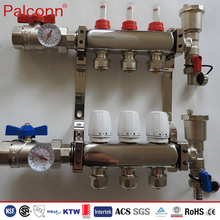 pex pipe stainless steel water manifold for underfloor heating