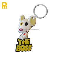 2D small cheap customized soft pvc key chain /rubber key fob/pvc key ring