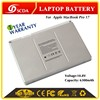 "Replacement laptop battery for Apple MacBook Pro 17"" A1189, MA458, MA458*/A, MA458G/A, MA458J/A"