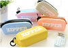 Fashion stationary pencil cases with big zipper