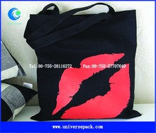 red mouth black heavy canvs market bags