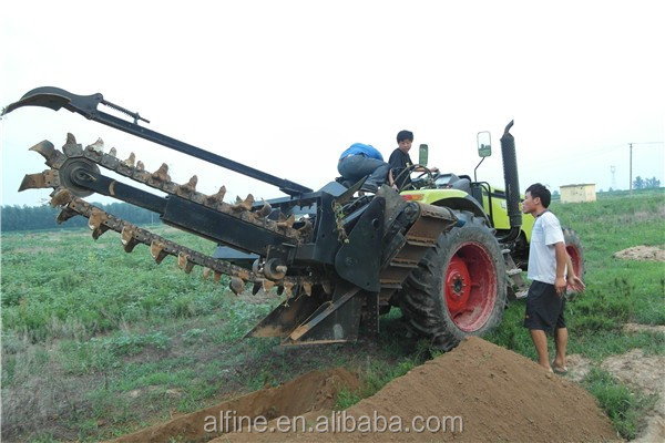 High efficiency good operation trencher ditcher