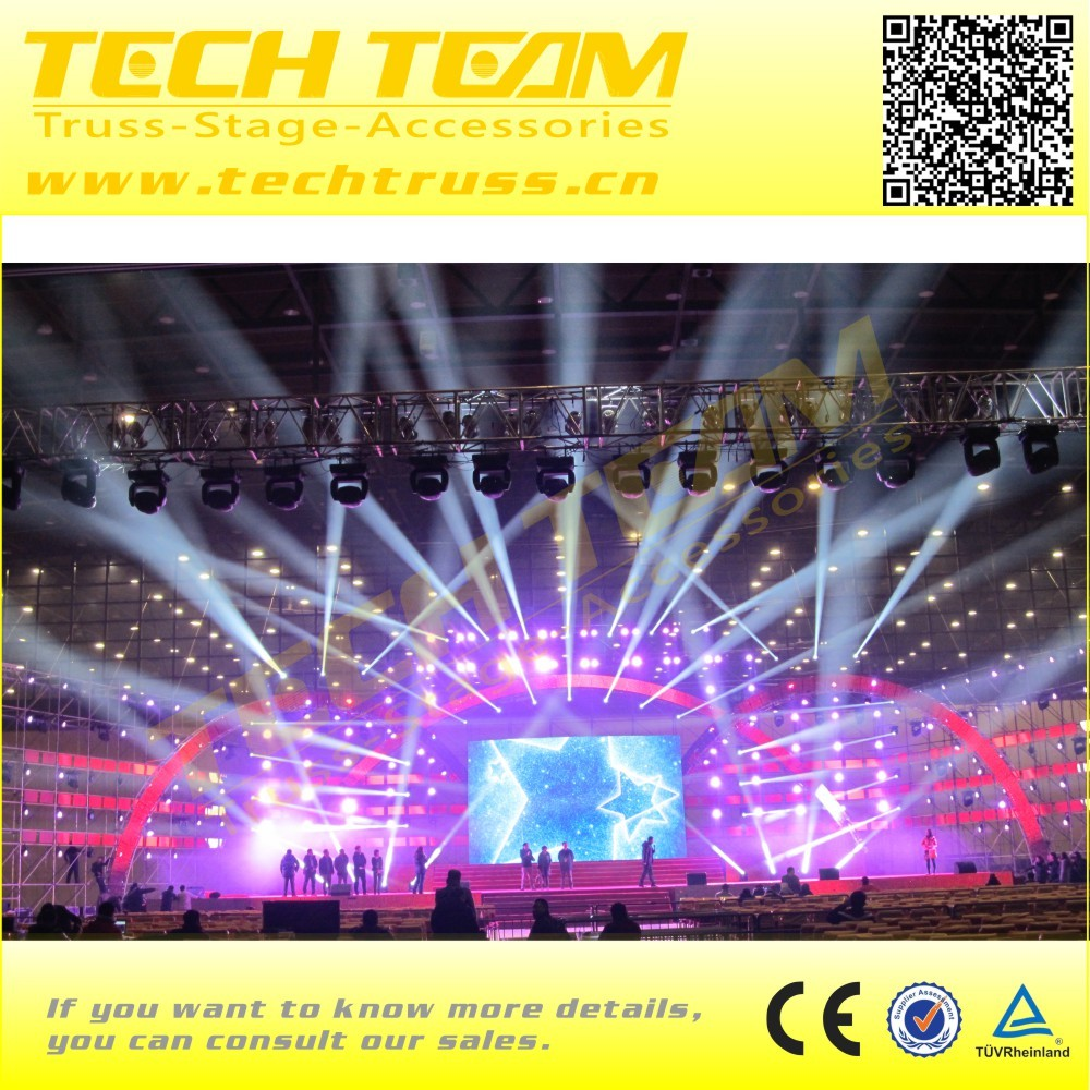 Truss lighting system crank stand for event lighting exhibition truss