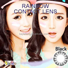 1 tone natural cosmetic soft contact lenses raibow black