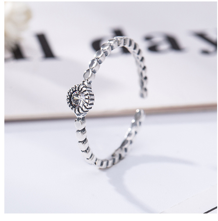 Online Shop China S925 Sterling Silver Retro Ring Korean Female Silver Diamond Ring