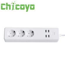CHICOYO smart platooninsert 3 outlets 4 usb port wifi EU extension cord power strip