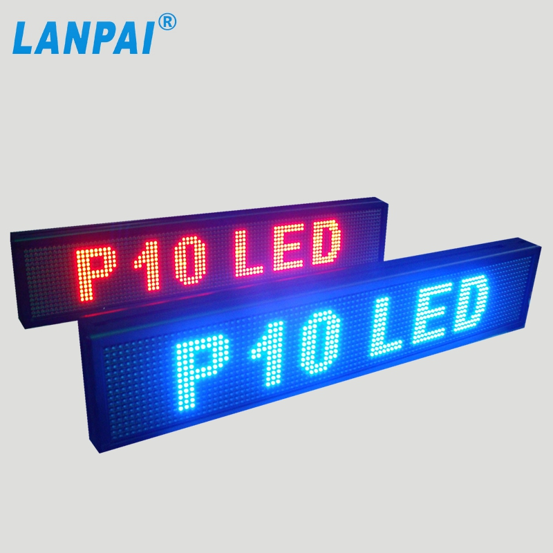 factory hot sale p10 multi color outdoor display programmable led billboard
