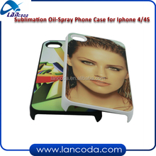 sublimation oil spray phone case for iphone4/4s