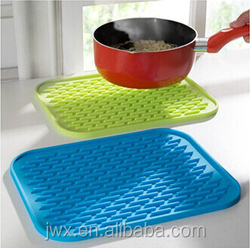 silicone durable pan mat Easy clean Silicone kitchen dining room pan handle /Mats/Padhot food table mat hot mat