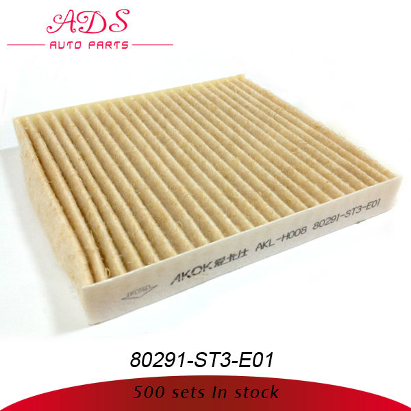 japanese car activated carbon cabin filter for honda oem:08291-ST3-E01