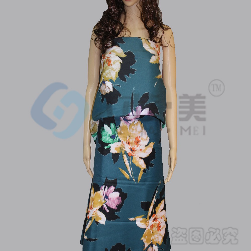 100% Polyester fabric with Digital Printing One Piece Dress Twill Fabric for women apparel