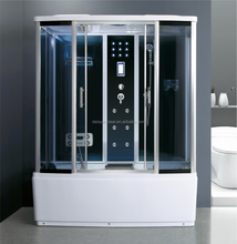 High Quality One Person Steam Shower Cabin with whirlpool massage bathtub