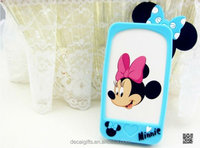 Silicon custom phone case, 3d catoon mickey mouse phone case