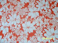 Printed micro fiber terry fleece fabric