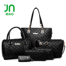 JIANUO Ladies business systyle handbags set womens handbags and purses