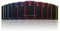 mixed colors new product protective hybrid pc silicon case for samsung galaxy s4 active