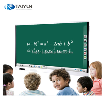 65'' 75'' 86'' Movable Portable USB Interactive TV Touch Screen Whiteboard All In One PC For School Teaching