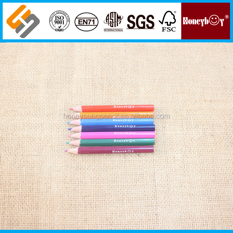 small kids mini colored pencils with comtomized logo
