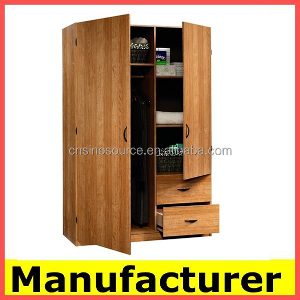 Cheap Bedroom Locker 2 Door Clothing Locker/wardrobe With K/d Structure