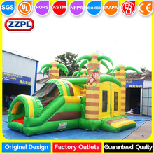 ZZPL Giant Inflatable Bouncer Combo, Jungle Monkey Inflatable Bounce House Slide for kids