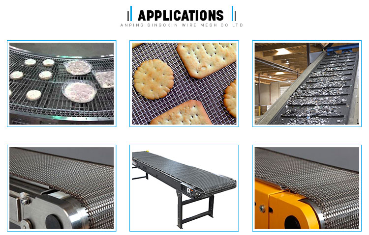 The oven stainless steel conveyor belt 304 310 314