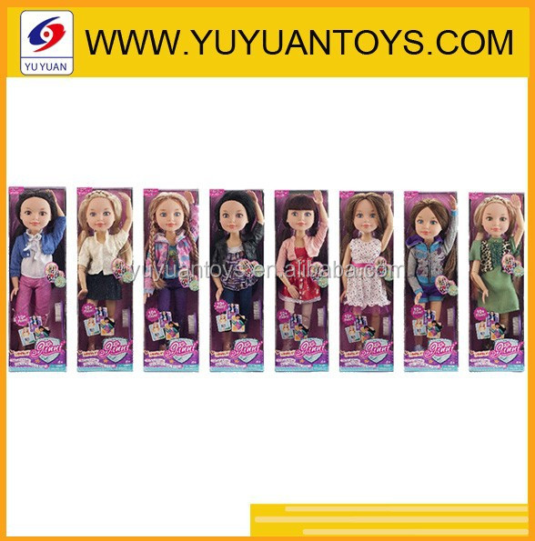New plastic vinyl material fashion Anime figurine doll boxes 18 inch American girl dolls