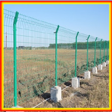 Double wire garden lawn edge mesh fence
