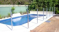 anodized aluminium fence post for pool fence